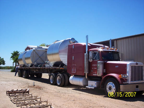 Stainless Tank Delivery